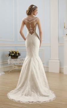 Платье с приспущенными плечами свадебное